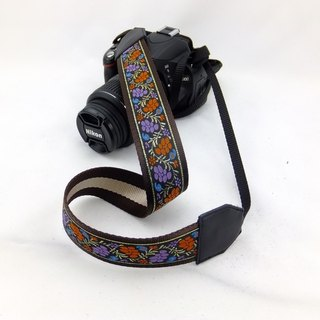 Camera strap can print personalized custom leather stitching national wind embroidery pattern 030