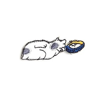 [Jingdong all KYO-TO-TO] cat feeding good fifty-three Cloth シ an have DANGER _ Cat (Kuwana) Embroidery
