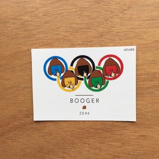 Booger Olympic Sticker