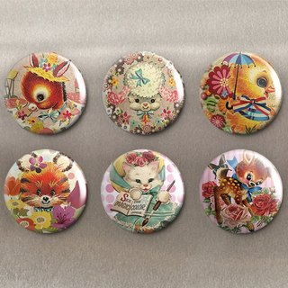 Cute Animals - Magnet (6 in) / Badge (6 in) / Birthday Gift [Special U Design]