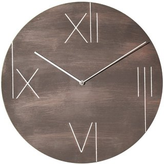 NeXtime - Galileo-old brown minimalist metal wall clock