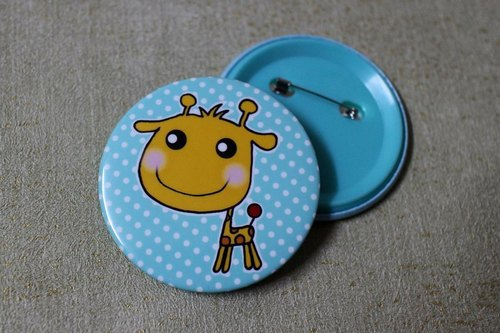 Play not tired _ greatly badge (giraffe)