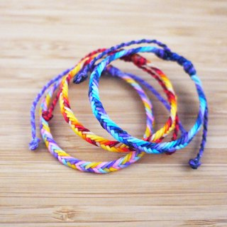 [small ethnic group] coarse silk wax line braided bracelet