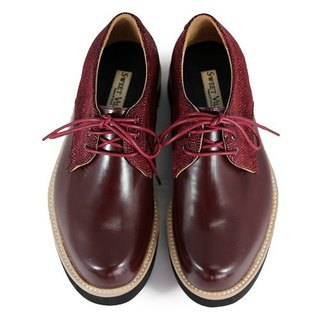 Hazel M1126A Burgundy leather sneakers