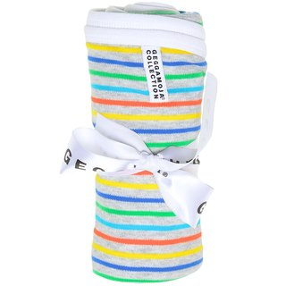 [Nordic children's wear] Swedish organic cotton infants and four seasons are _ Miyue gift color stripes