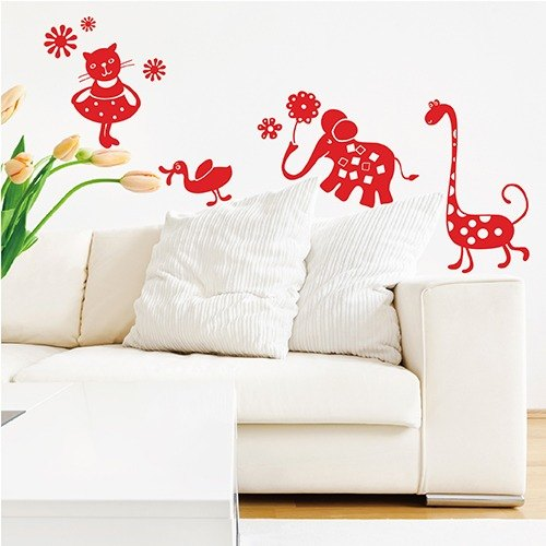 """Smart Design"" Creative trace animal garden wall stickers ◆ A"