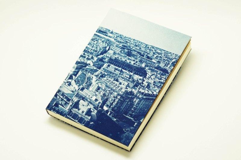 手工藍曬筆記本 - 微笑天際