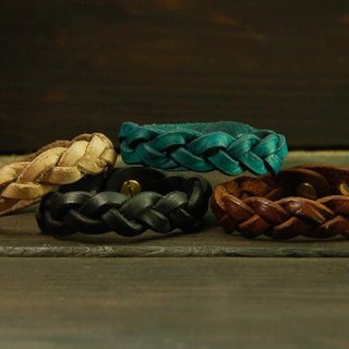 Basic Leather Plait Bracelet braided leather bracelet