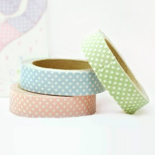 Cloth Tape - Geometric Classic Water Jade [Fine White] / Pink / Green / Blue