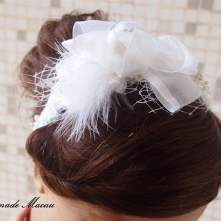 Western-style wedding bridal feather headdress hair accessories rose cool wedding gift