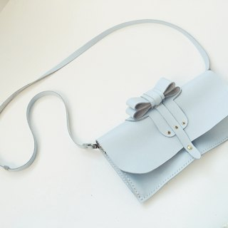 Zemoneni leather lady purse and shoulder bag phone Case in light blue color