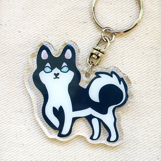 "PuppyLove early heart illustration [dog] acrylic pendant key ring ""Ranger"""