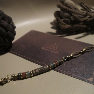 ▲ engraved Love / Vintage Natural Stone Bracelet