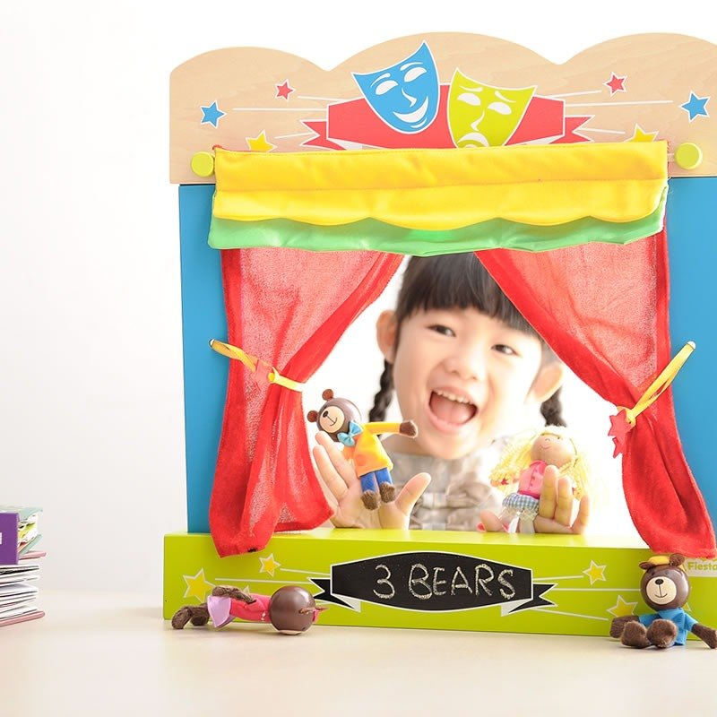 [UK Fiesta moving hands +] play creative mini-suitcase Stage Theater (with ready to play, ready to cultivate good habits accommodated)