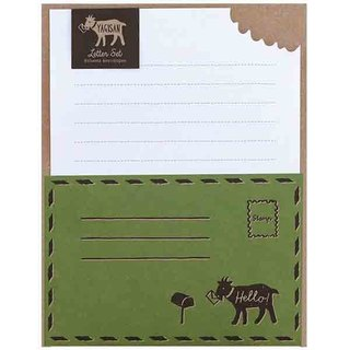 [Japanese] Letter Set LABCLIP series Yagisan stationery set / Green