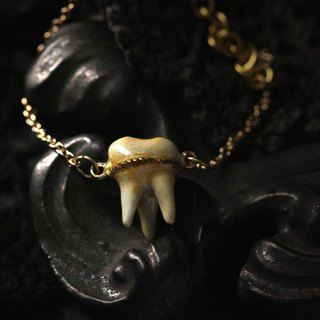 A Tooth with Three Fangs Bracelet - Hand Painted Version - Original Design and Handmade by Defy