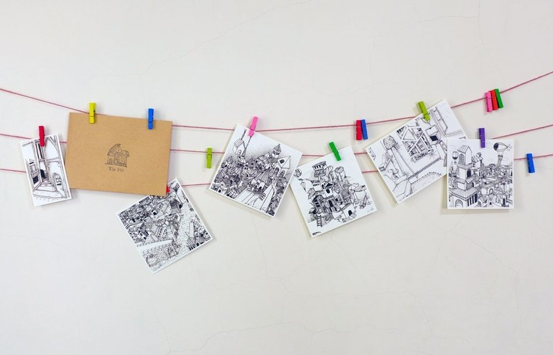城市明信片(一組六入)