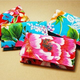 Hakka flower card business card sets - red models