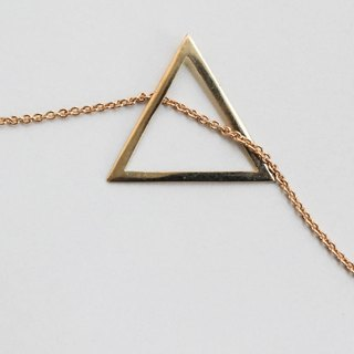 Brass necklace hollow triangle
