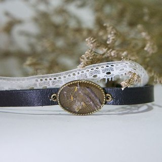 Dandelion Fever (Purple Grass version) - Vintage Lace Leather Choker