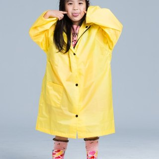 [Paris Rainbow] before the French Open reflective coveralls children raincoat / sunshine yellow