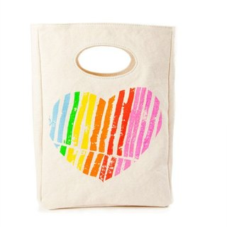 Canadian fluf I love you organic cotton bag/handbag/handbag