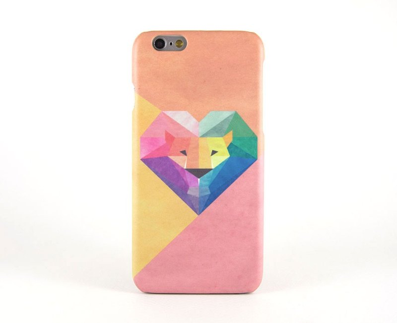 Geometric Lion (Pink/Orange) iPhone case / Samsung Galaxy case 手機殼