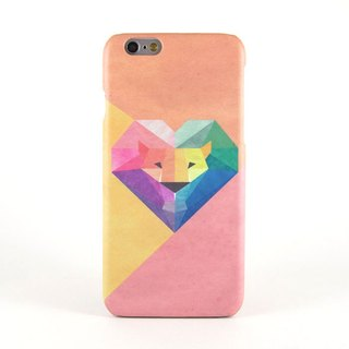 Geometric Lion iPhone case in Pink/Orange