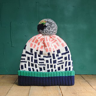 White Wall Detachable PomPom Beanie Hat