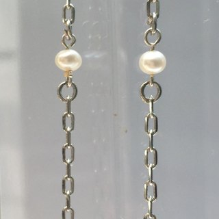 E0296 - own design and manufacture - fashion generous gift of choice - natural stones - Freshwater pearls / pearl earring