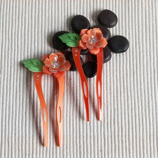 [MITHX] color of Something New, U-shaped hairpin, hairpin, hair plug - Orange