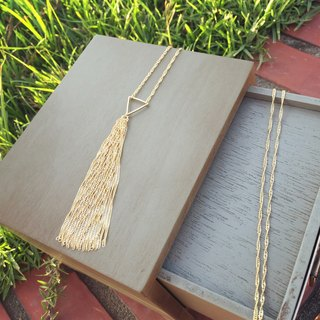 Classic tassels long chain ripple triangle
