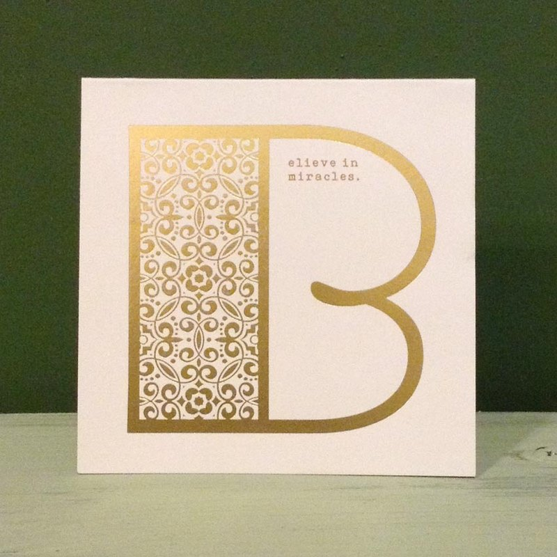 Bronzing letter card envelope sticker group -B