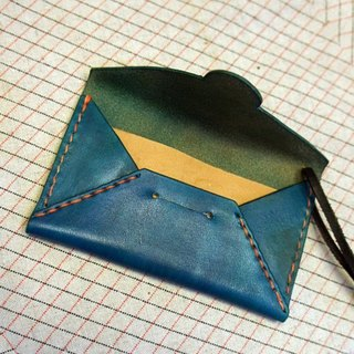 Little things} designer leather Hand-made: Envelope Series card holder _ _ double Customzzed