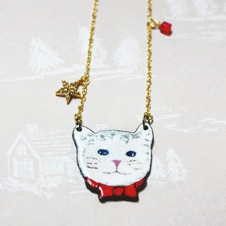 New Year's Eve preparations gentleman cat ---- enamel long chain