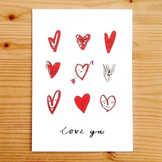 "Global illustrator Series - Nina Cosford Greeting Card "" LOVE YA """