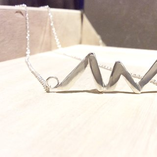Hand-carved sterling silver necklace ✿ ✿ you are My Way ♥ M & amp; W ♥ lover necklace