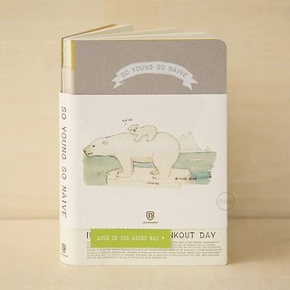 Shine x nine mountains 'was small and innocent' special edition notebook hand book - Polar Bear