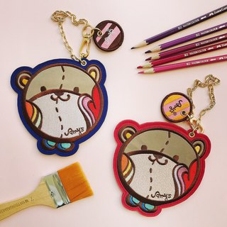 Amy's Bear Bear Card Holder x Coin Holder Two Colors