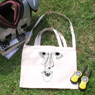 Nasal illustration horizontal canvas bag