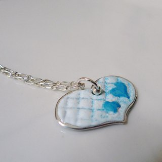 Sweetheart ~ pure love ~ Christmas custom enamel burn sterling silver pendant necklace, happiness!