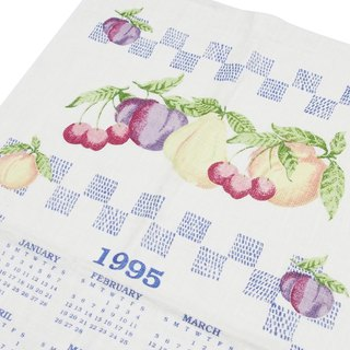 1995 American early years cloth calendar FRIUT