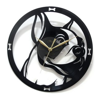 [Time Traveler 1888] vinyl clock. French Bulldog