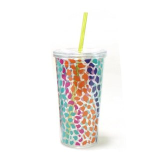Qinliang cup 680ml double summer love leopard [color]