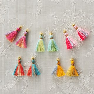 "イヤリング/Tassel Pierced earrings ""flower garden"""