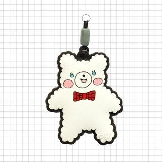 Korea Afrocat decoration phone clean strap lanyard - Marshmallow polar bear