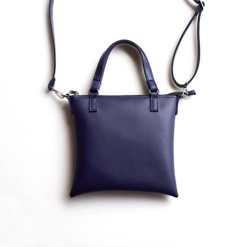 百搭極簡吐司方包 手提肩背兩用 Purplish blue / 紫藍