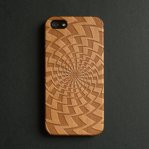 Real wood engraved iPhone 6 / 6 Plus case S009