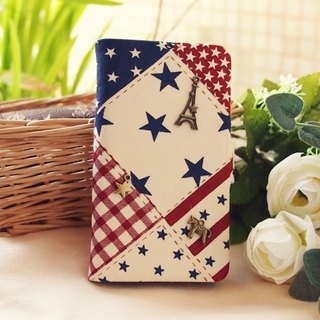 US wind retro beige cloth star phone sets protective sleeve Samsung Galaxy Note2 Note3 Note4 S5 S4 S3 S2 LG Nexus 4 5 6 G2 G3