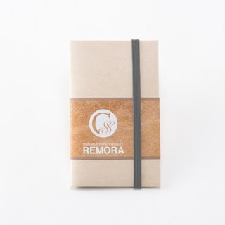 Durable Paper Wallet REMORA / Ivory&Gay